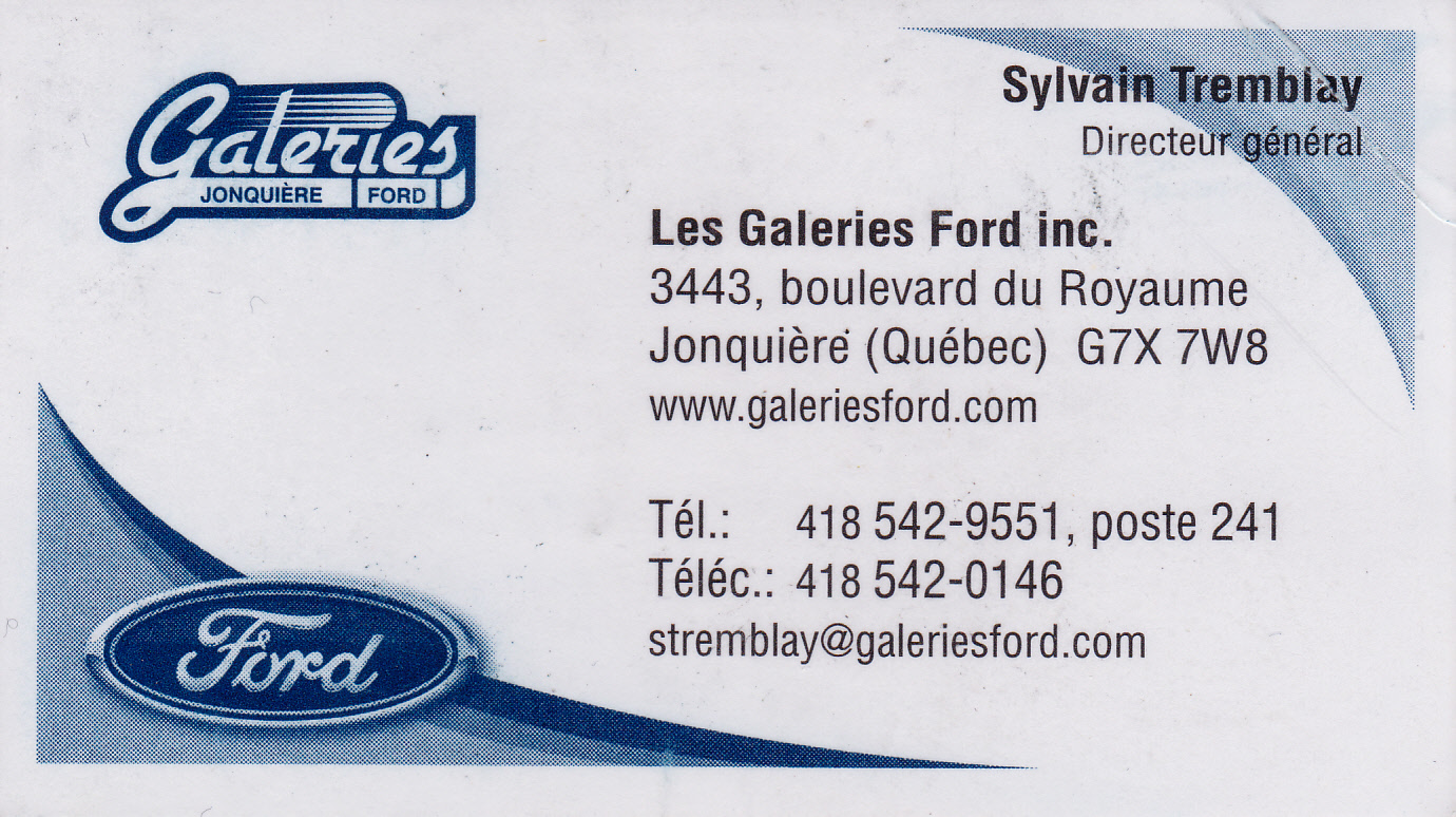 Les Galeries Ford inc.